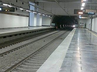 Metro Hospital 20 de Noviembre - Platforms