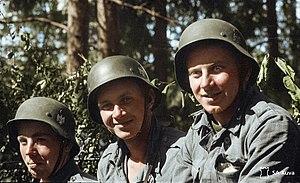 Finnish Infantry Regiment 200 - Estonian volunteers in Finland during the Continuation War.