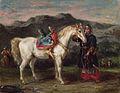 Eugène Delacroix - Circassien tenant un cheval.jpg