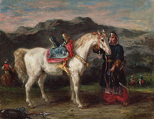 Circassian Holding a Horse by Its Bridle