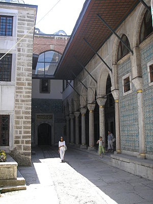 Ottoman Imperial Harem - The Courtyard of the Eunuchs in Topkapı Palace