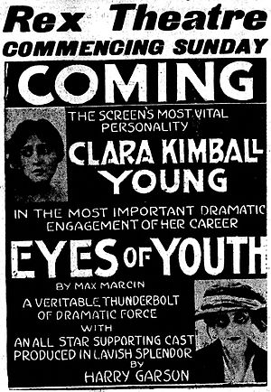 Eyes of Youth - Newspaper ad (1920)