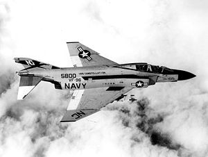 "Duke Cunningham - ""Showtime 100"", the F-4J flown for three ""kills"" by Cunningham and Driscoll."