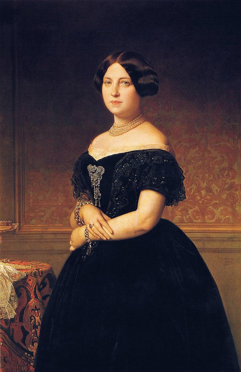 F. de Madrazo - 1852, María del Pilar de la Cerda, Duquesa de Veragua (Colección particular, Madrid, 122 x 81 cm).jpg