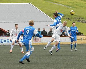 2012 Faroe Islands Premier League - FC Suðuroy vs. KÍ Klaksvík in the 15. round on 30. June 2012.