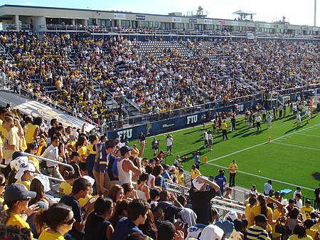 The Panthers football team plays at the on-campus Riccardo Silva Stadium. FIU Stadium.JPG