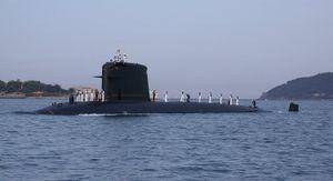 French submarine Saphir (S602) - Image: FS Saphir 03