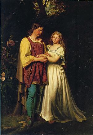 Cymbeline - Posthumus and Imogen by John Faed