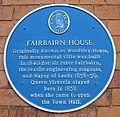 Fairbairn House blue plaque Leeds.jpg