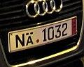 Fake license plate NÄ-1032 (German Export plate) - 3.jpg