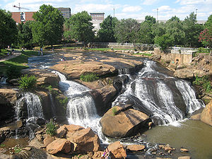 The Falls in downtown Greenville, South Carolina