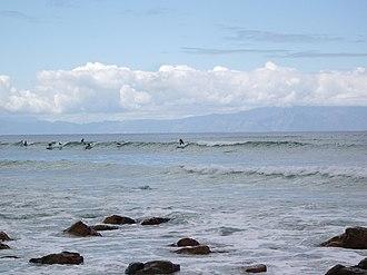 False Bay - Surfers Corner; surfspot at Muizenberg in the False Bay