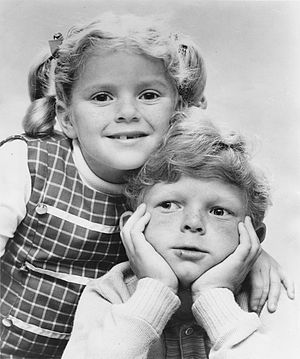Johnny Whitaker - Whitaker and Anissa Jones on Family Affair, 1967