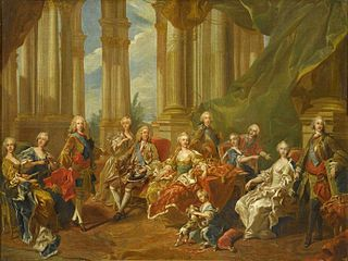 The family of Philip V in 1738