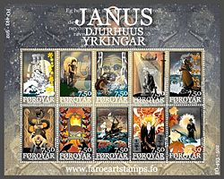 Faroe stamps 493-502 the poetry of janus djurhuus.jpg