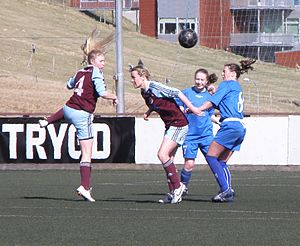 1. deild kvinnur - FC Suðuroy vs. AB Argir in April 2012.