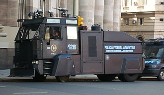 Argentine Federal Police - Riot control vehicle of the Policía Federal, Buenos Aires, 2008