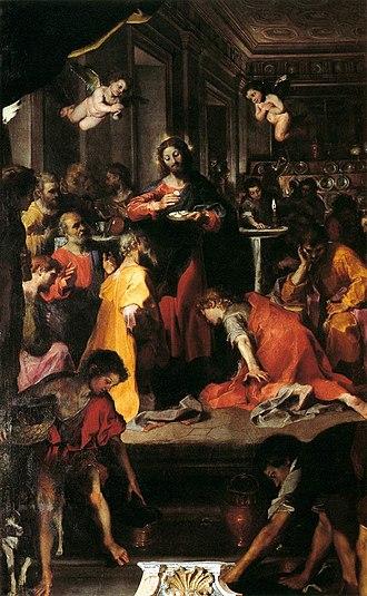 Communion of the Apostles (Barocci) - Image: Federico Barocci The Institution of the Eucharist WGA01290
