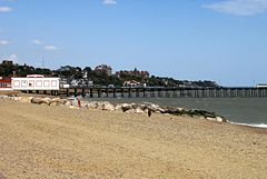Felixstowe beach -Suffolk -England -14Aug2008
