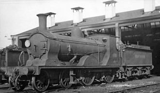 Feltham marshalling yard - Drummond class K10 4-4-0, 'mixed-traffic' locomotive at Feltham 1947