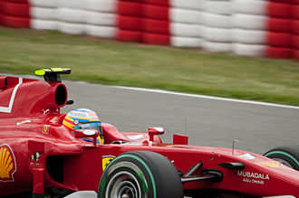 2010 Spanish Grand Prix - Local favourite Fernando Alonso took second place as a result of Hamilton's problems.