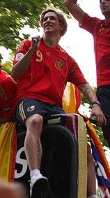 Torres festeggia la vittoria spagnola a Euro 2008