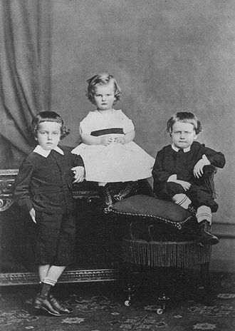 Princess Leopoldina of Brazil - Three of the sons of Leopoldina and Ludwig August; from the left: Pedro Augusto, José and Augusto Leopoldo (1871)