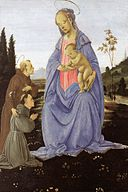 Filippino lippi Madonna with Child, St Anthony of Padua and a Friar.jpg