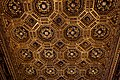 Firenze - Florence - Palazzo Vecchio - 2nd Floor - Sala dell' Udienza - View on gold laminated carved coffer ceiling 1476 by Giuliano da Maiano I.jpg