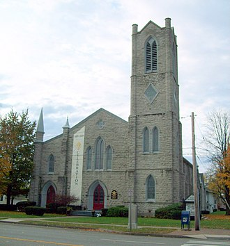 National Register of Historic Places listings in Genesee County, New York - Image: First Presbyterian Church Batavia NY Oct 09