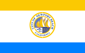 Newport Beach Fire Department - Image: Flag of Newport Beach, California
