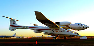 Scaled Composites -  The White Knight carries SpaceShipOne on Flight 16P September 29, 2004