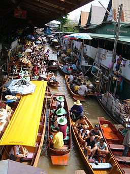 Floating market at Damnoen Saduak 4