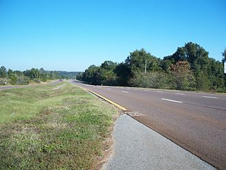 U.S. Route 29 in Florida - Northbound US 29 as seen from the median of Brown Road south of Bluff Springs