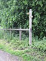 Footpath signpost, Wyrley Lane - geograph.org.uk - 2102596.jpg