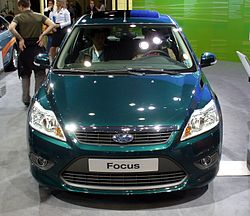 Front Of A Series2 Ford Focus Econetic Showing Smaller Lower Grill