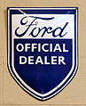 Ford Official Dealer, Enamel advert sign at the den hartog ford museum pic-082.JPG