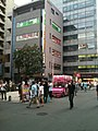 Former smoking place in Akihabara Park, and north street with P. P. Crepe food vans (2010-08-15 17.24.44).jpg