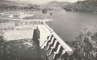 Fort Patrick Henry Dam - Fort Patrick Henry Dam shortly after construction in the mid-1950s