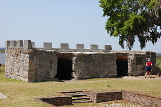 Fort Frederica National Monument - Image: Fort Fred Magazine