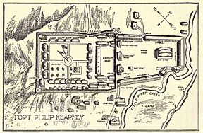 Plan vom Fort Phil Kearny, 1904