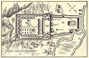 Red Cloud's War - Fort Phil Kearny was constructed to house 1,000 soldiers, a number never achieved in its brief history. Similar to Fort Reno and Fort C. F. Smith it was built in Crow treaty land and accepted by these Indians.