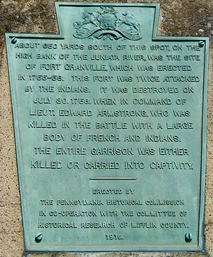 Fort Granville - 1916 state historical marker near Lewistown