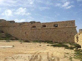 Froberg mutiny - Image: Fort Ricasoli wall