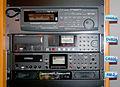 Fostex D2424LV (24tr Hard Disk digital recorder), DV824 (8tr DVD multitrack recorder), CR500 (CD-R&RW master recorder), RM-2 (Stereo rack monitor) - IBC 2008.jpg