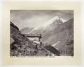 Fotografi av stuga och berg i Schweiz - Hallwylska museet - 103168.tif
