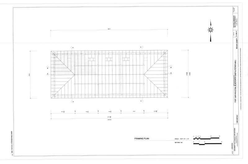 File:Framing Plan - Fort Sam Houston, Blacksmith Shop and Tether ...