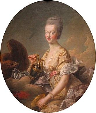 Hebe (mythology) - Image: François Hubert Drouais, Madame la Dauphine Marie Antoinette, en Hébé (1773)