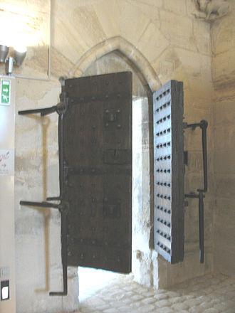 Square du Temple - Surviving doors from the Grosse Tour, now found in the Château de Vincennes