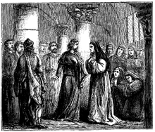 Abelard receives the monastery of the Paraclete Héloïse (1129) (Source: Wikimedia)